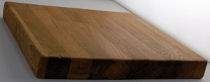 danish oiled oak block showing sheen finish