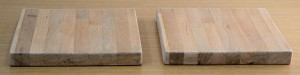 2 oak blocks prepped for Danish Oil