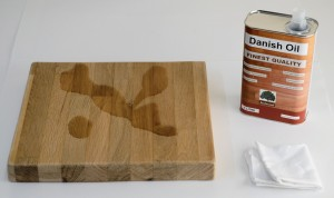 starting to apply Danish oil