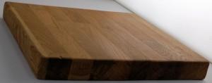 danish oiled oak block showing sheen finish