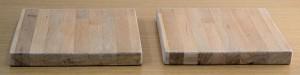 2 oak blocks prepped for Danish Oil